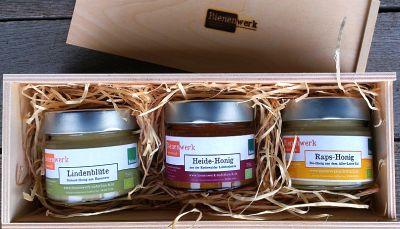 Honigsorten verpackt